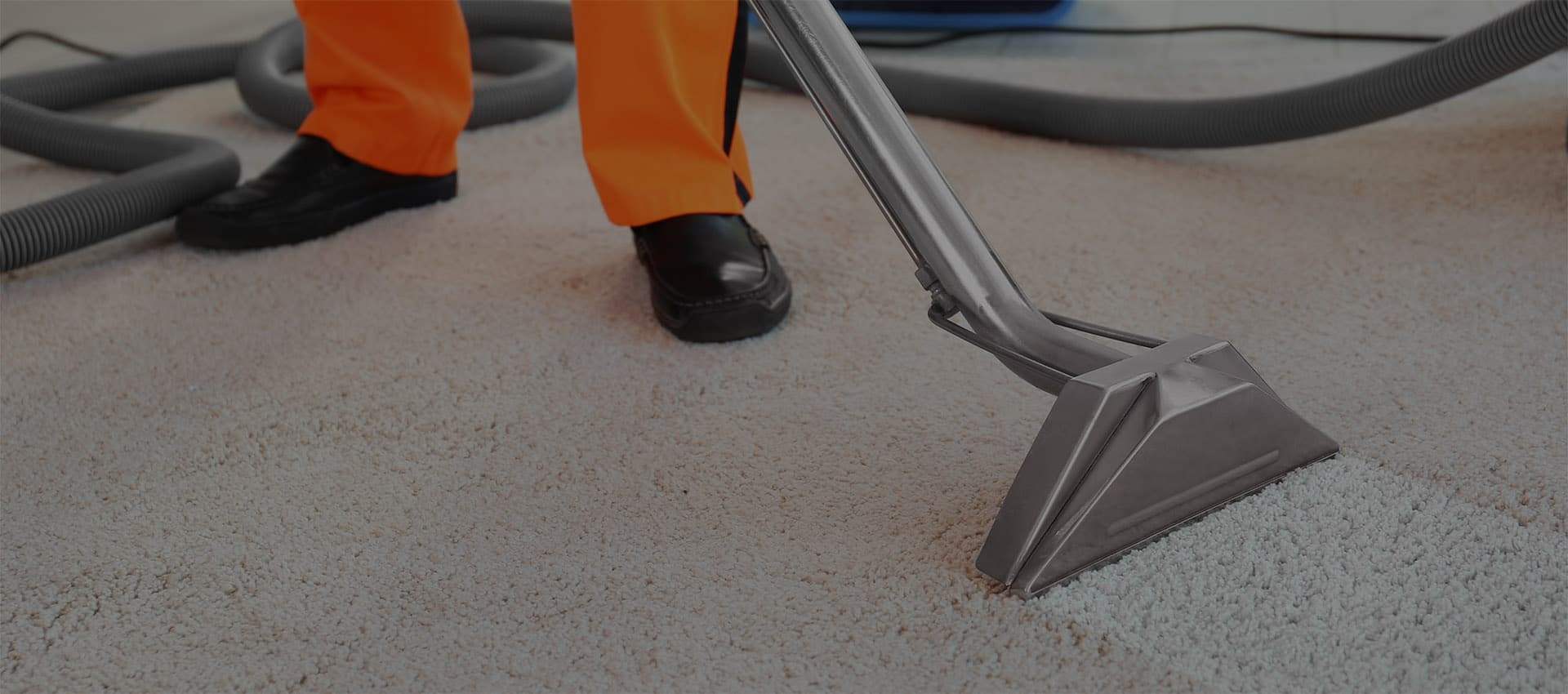 Central Steam Cleaning team drying carpet cleaning services